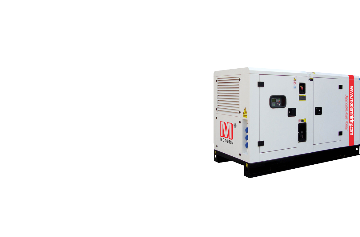 Diesel generator sets on hire